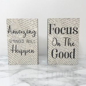 Other - Amazing Things Will Happen Focus on The Good Signs